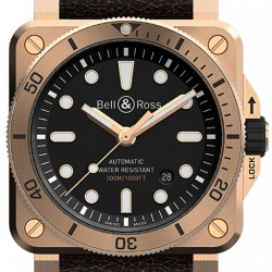 Replica Bell & Ross Diver Bronze 42mm Mens Watch BR0392-D-BL-BR/SCA