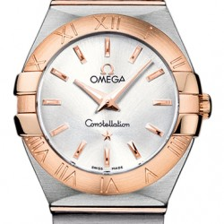 Replica Omega Constellation Brushed 27mm Ladies Watch 123.20.27.60.02.001
