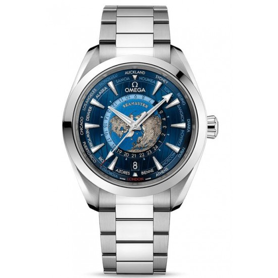 Replica Omega Seamaster Aqua Terra 150M GMT Worldtimer Watch 220.10.43.22.03.001