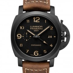 Replica Panerai Luminor 1950 3 Days GMT Ceramica Watch PAM00441