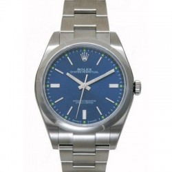 Replica Rolex Oyster Perpetual 39mm Watch 114300 Blue Dial