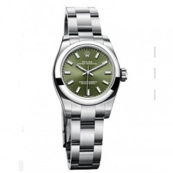 Replica Rolex Oyster Perpetual 26 Watch 176200 Green Dial