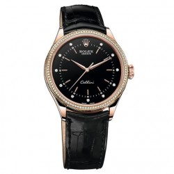 Replica Rolex Cellini Time 50605RBR Rose Gold & Diamonds